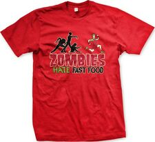 Zombies Hate Fast Food- Funny Zombie Undead Eyeball Horror Slogans Men's T-shirt