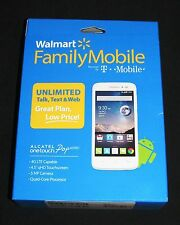 "New Sealed T-Mobile WFM ALCATEL ONETOUCH POP ASTRO 4.5"" White Prepaid Smartphone"