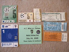 ticket chelsea away v ac milan 26/10/99 uefa cl champions club ticket