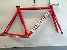 track frame&fork,Headset Bianchi Super Pista Flat Red 53cm.