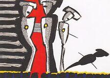 """Hermann Bloch """"Zukunft"""" Zeitgenössische Kunst Moderne Kunstpostkarte"""