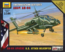 Z7408 AH-64 APACHE US ATTACK HELICOPTER - ZVEZDA MODERN - HOT WAR - 1/144