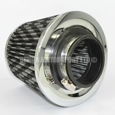 Universal Performance Carbon Effect Cone Air Filter For 70mm Induction Kit 76100