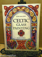 CELTIC GLASS PAINTING Judy Balchin How-To Paint Knotwork Illumintated Initials++