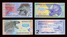 SET Beringia BC- all 4 notes- 1M, 2M, 5M and 2 2012-2013, Polymer, UNC Dinosaurs