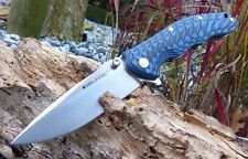 Couteau Real Steel T101 Thor Special Edition Blue & Black Acier 14C28N RS7524