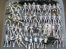 "Star Wars Hasbro Clone Storm Trooper Lot 50 Figures 75+ Weapons 3.75"" Tall Army"
