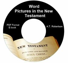 Word Pictures-New Testament A T Robertson Ebook PDF CD-Kindle-iPhone Compatible