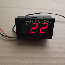 Digital Red Blue LED Digital Thermometer Temperature Panel Meter -30~70 C DC 12V