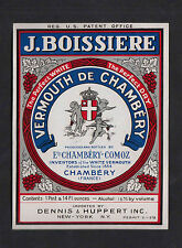 Ancienne étiquette Alcool France BN8111 Vermouth de Chambéry Ange 1