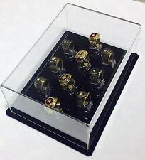 10 Ring Championship Ring Display Case - 10 Ring Display Case Championship Rings