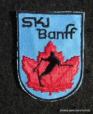SKI BANFF CANADA SEW ON PATCH SUNSHINE NORQUAY TOURIST SOUVENIR 2 x 2 1/2""