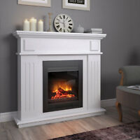 Mantelpiece cottage console for electric fireplaces chimney breast vintage shelf