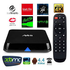 SMART TV BOX ANDROID INTERNET M8 4K STREAMING QUAD CORE 2GB RAM MINI PC WIFI IT