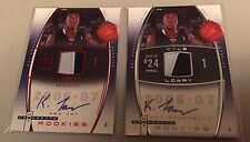 2 - 06-07 Hot Prospects Kyle Lowry RPA RC Patch AUTO RED /50 & /299 exquisite SP