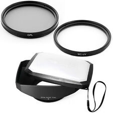 77mm 16:9 Wide Lens Hood,CPL,MCUV Filters for Sony SLT-A37,A57, A77, A65 DSLR,US