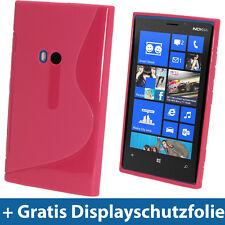 Hot Pink Rosa Zweiton TPU Tasche für Nokia Lumia 920 Windows Gel Hülle