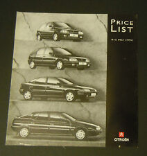 Citroen UK Price List (1994)