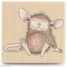 New House Mouse CONTENTED MUDPIE Rubber Stamp Stampabilities Happy Smile