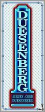 DUESENBERG CAR SALES AUTO DEALER NEON STYLE PRINTED BANNER SIGN ART 2' X 5'