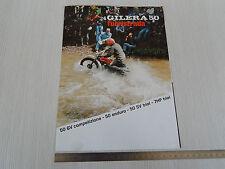 DEPLIANT ORIGINALE GILERA 50 COMPETIZIONE ENDURO TRIAL CROSS MOTOCROSS BROCHURE