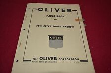 Oliver Tractor UBW Spike Tooth Harrow Dealer's Parts Book Manual BVPA