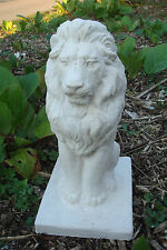 LATEX MOULD MOLD + FIBREGLASS CASING POSING LION ON A PLINTH   HEIGHT 12""