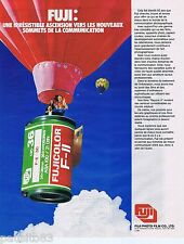 PUBLICITE ADVERTISING 095 1981 Fuji pellicule fujicolor F-11