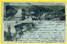 Litho 1903 Mehner & Maas Leipzig DEUTSCHE REICHSPOST Postkarte GRUSS aus BAD EMS