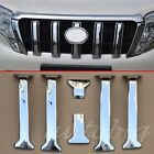 Chrome Grille Cover FOR Toyota Prado J150 2014-2016 GX GXL Grill ABS Molding