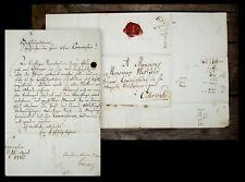 1775 Westfeld Brief aus Hannover nach Osterwald Amtliches Schreiben
