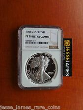 1988 S PROOF SILVER EAGLE NGC PF70 ULTRA CAMEO EDGEVIEW NEW LARGE LABEL