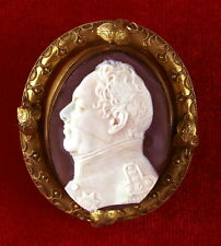 MUSEUM QUALITY - HISTORICAL CARVED AGATE CAMEO - KING WILLIAM IV