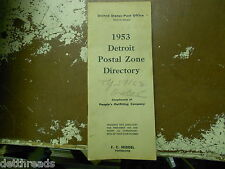 VINTAGE DETROIT POSTAL DIRECTORY - 1953 - United States Post Office