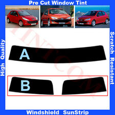 Pre Cut Window Tint Sunstrip for Peugeot 206 3Doors Hatchback 1999-2010 AnyShade