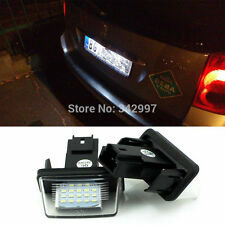 2x No Error LED license plate light For Peugeot 206 207 306 307 406 407 308 5008