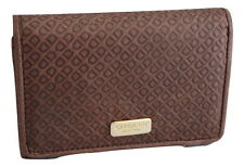Saddler Leather Embossed Purse Wallet Mocha Brown