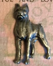 "New Russ Purebred Puppies Book Marker & Lapel Pin Tie Tac ""BOXER"" Pewter"