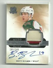 BRETT BULMER 11-12 UD THE CUP #165 ROOKIE 3-COLOR PATCH AUTOGRAPH /249 WILD