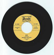 DOO WOP 45 MAURICE WILLIAMS/ZODIACS STAY ON HERALD  M-  REPRO
