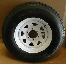 ST225/75D15  BIAS TRAILER WHITE SPOKE WHEEL & TIRE ASSEMBLY- 6 LUG LOAD RANGE D