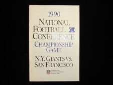 1990 National Football Conference Championship Game Media Guide Giants vs. 49ers