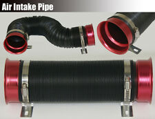 "3"" Multi-Flexible Turbo Cold Air Intake System Inlet Duct Hose Pipe Tube Kit Red"
