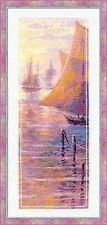 "Pink Sea Sunset Cross Stitch Kit - Riolis - (R1021) - 8.25"" x 18"""