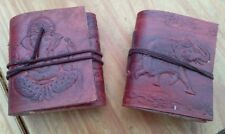 JOBLOT 2O BRAND NEW HANDMADE INDIAN LEATHER BOUND NOTE PADS - paper handmade too