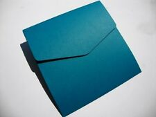 5 x Teal/Peacock 6x6 Blank Pocketfold Wedding Wallets by Cranberry