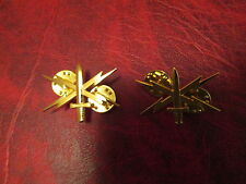 Set of Cyber Warfare Badges showing Sword and Lighting Bolts USA Made