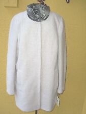 """NWT$250.00""""CALVIN KLEIN""""Wool Blends Attached Silver Vest Coat/Jacket size M."""