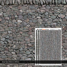 1:32 SCALE DRY STONE WALL WALLPAPER FOR BRITAINS FARM BUILDINGS TX007 X 5 SHEETS