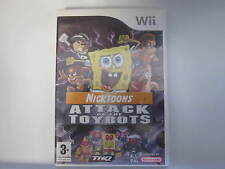 Nintendo Wii Game Nicktoons Attack of the Toybots Complete